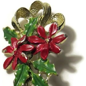 7d7194063ea Gerry's Jewelry | Vintage Poinsettia And Ivy Brooch Pin | Poshmark